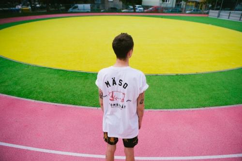 Mäsokombinát athletics t-shirt white