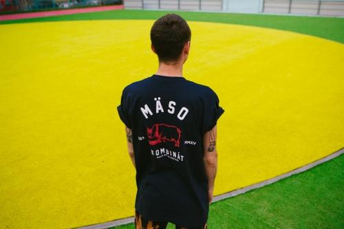 Mäsokombinát athletics t-shirt navy