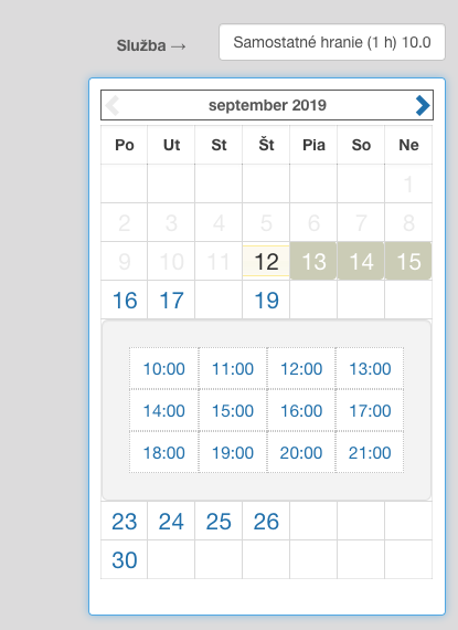 Available dates that should be not available